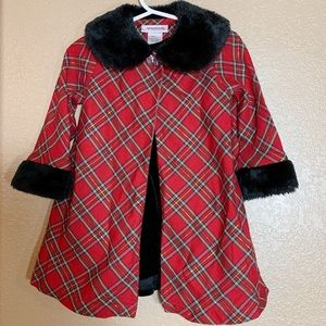 Youngland 2 piece holiday dress and matching coat